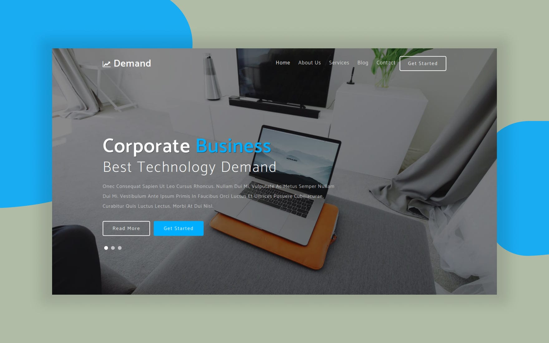 Demand Corporate Category Flat Bootstrap Responsive Website Template