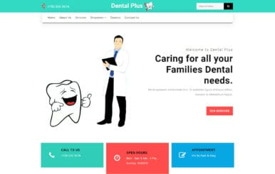Dental Plus a Medical Category Bootstrap Responsive Web Template
