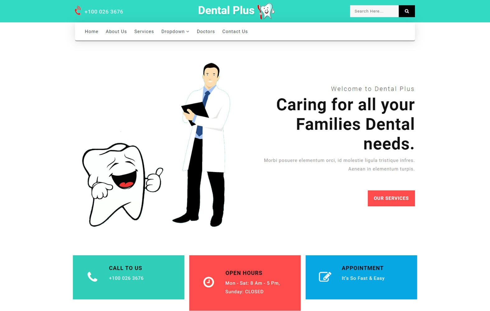 Dental Plus a Medical Category Bootstrap Responsive Web Template Mobile website template Free