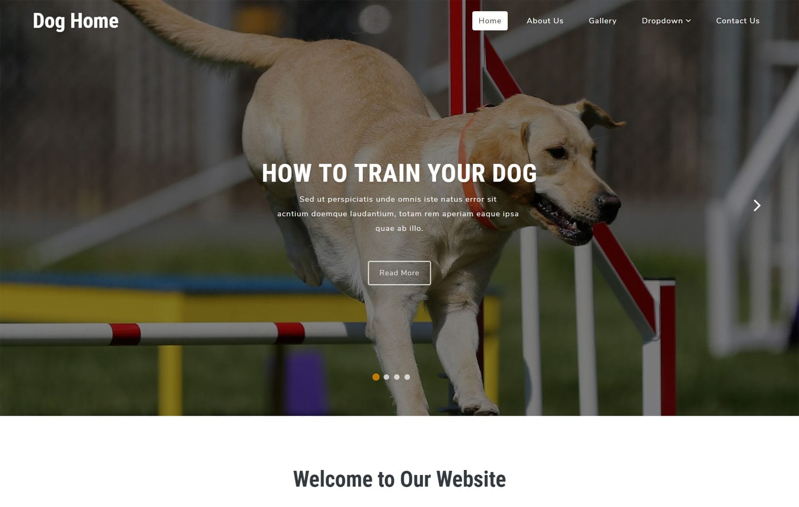 Dog Home an Animals Category Bootstrap Responsive Web Template Mobile website template Free