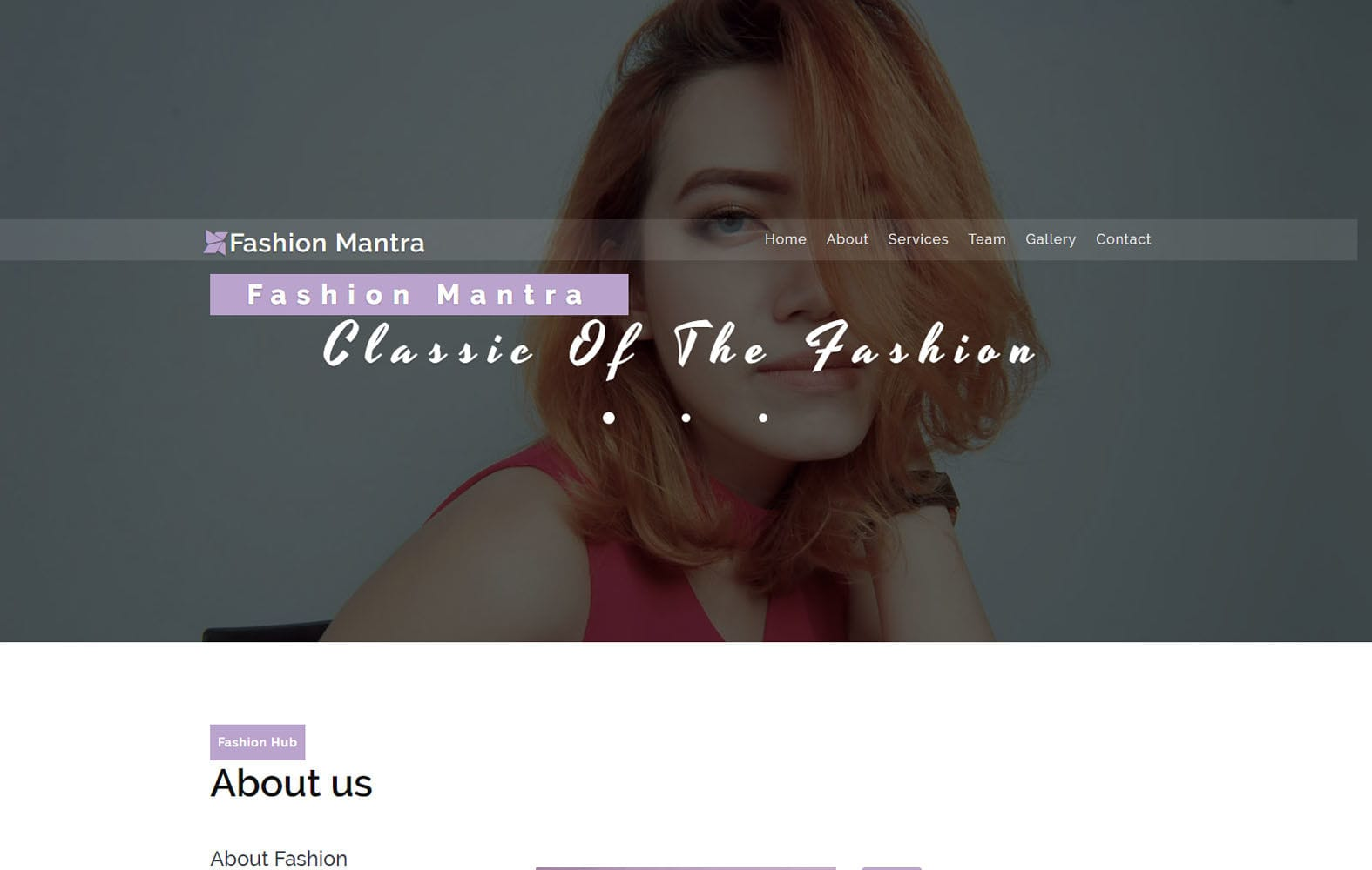 Fashion Mantra a Fashion Category Bootstrap Responsive Web Template Mobile website template Free