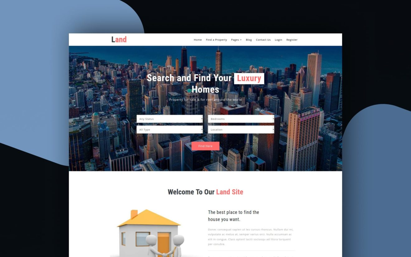 land website template