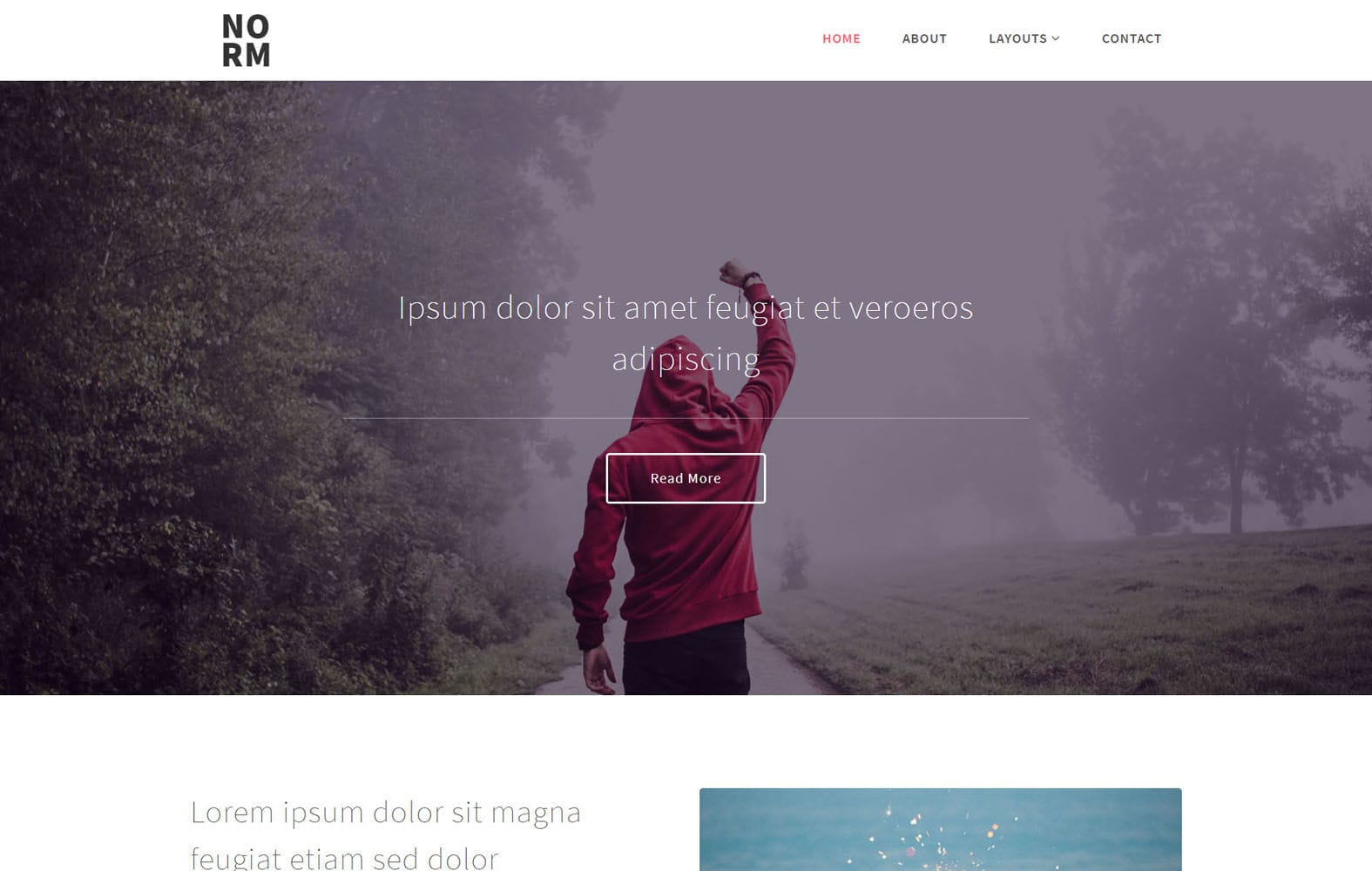 Norm a Multi Purpose Category Bootstrap Responsive Website Template Mobile website template Free
