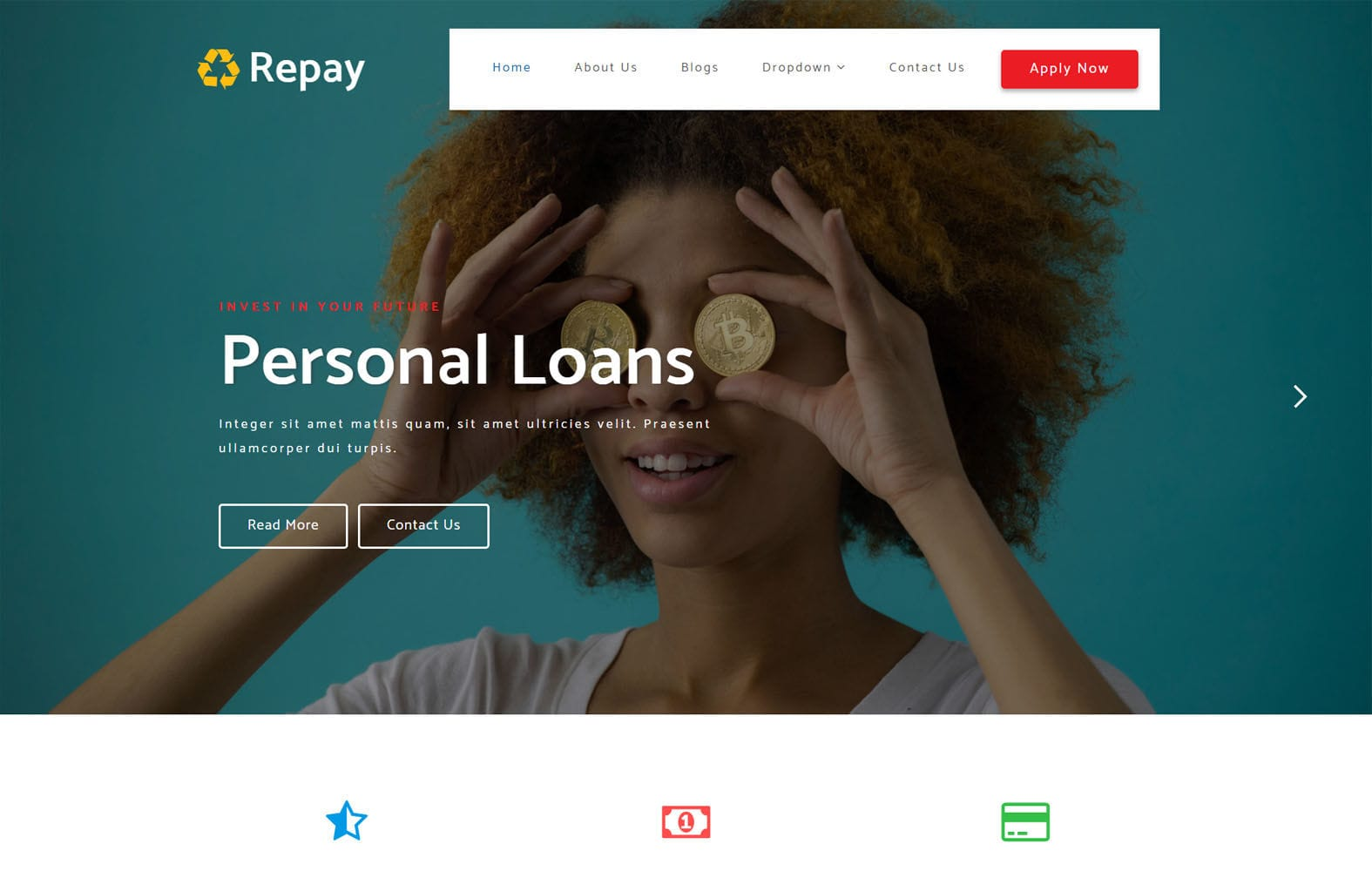 Repay Net Banking Category Bootstrap Responsive Web Template Mobile website template Free
