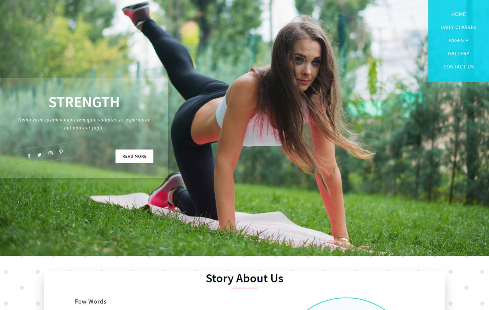 Strength a Sports Category Bootstrap Responsive Web Template Mobile website template Free