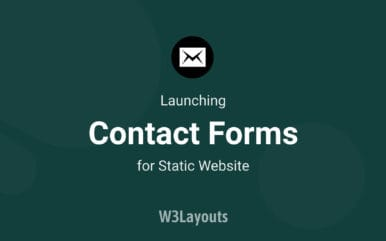 Introducing contact forms for static websites