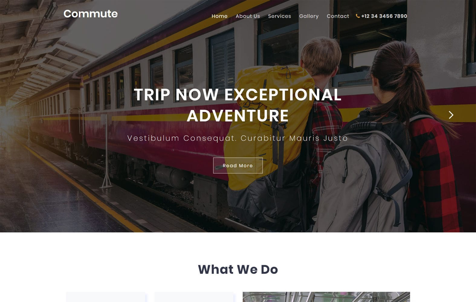 Commute Travel Category Flat Bootstrap Responsive Website Template Mobile website template Free