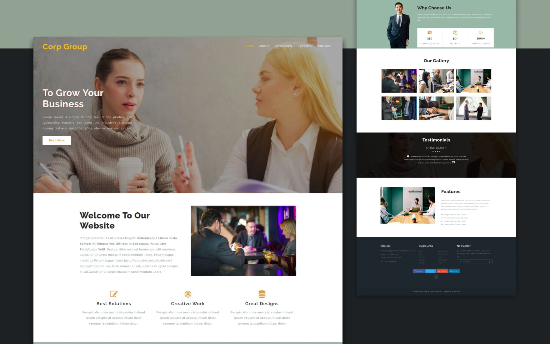 Corp Group – Corporate Category Bootstrap Responsive Website Template