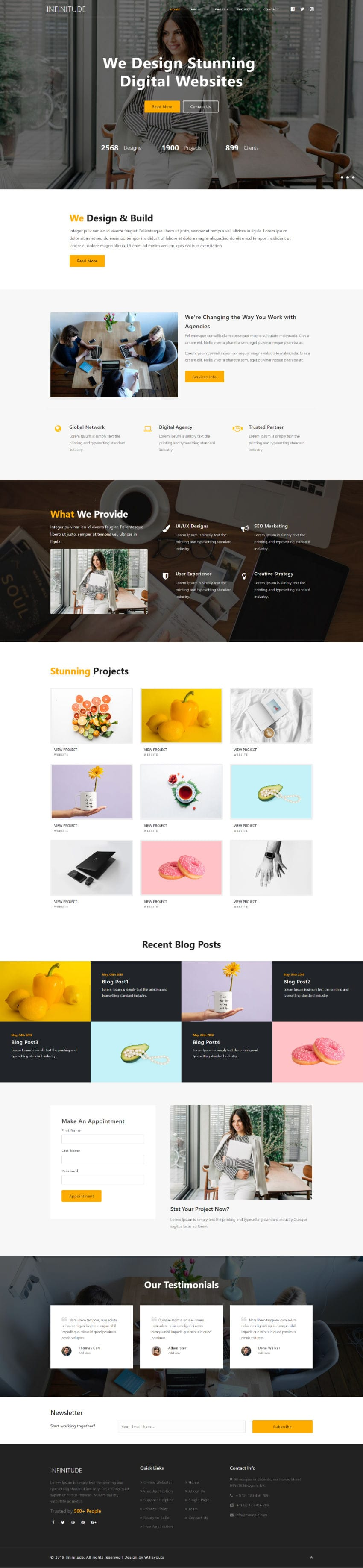 Infinitude, a corporate website template to suit your business needs.