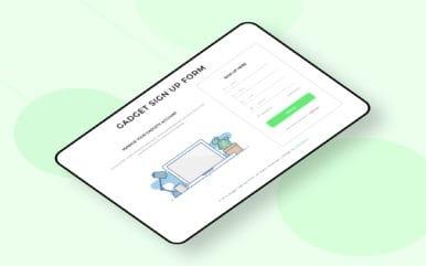 Gadget Sign Up Form a Flat Responsive Widget Template