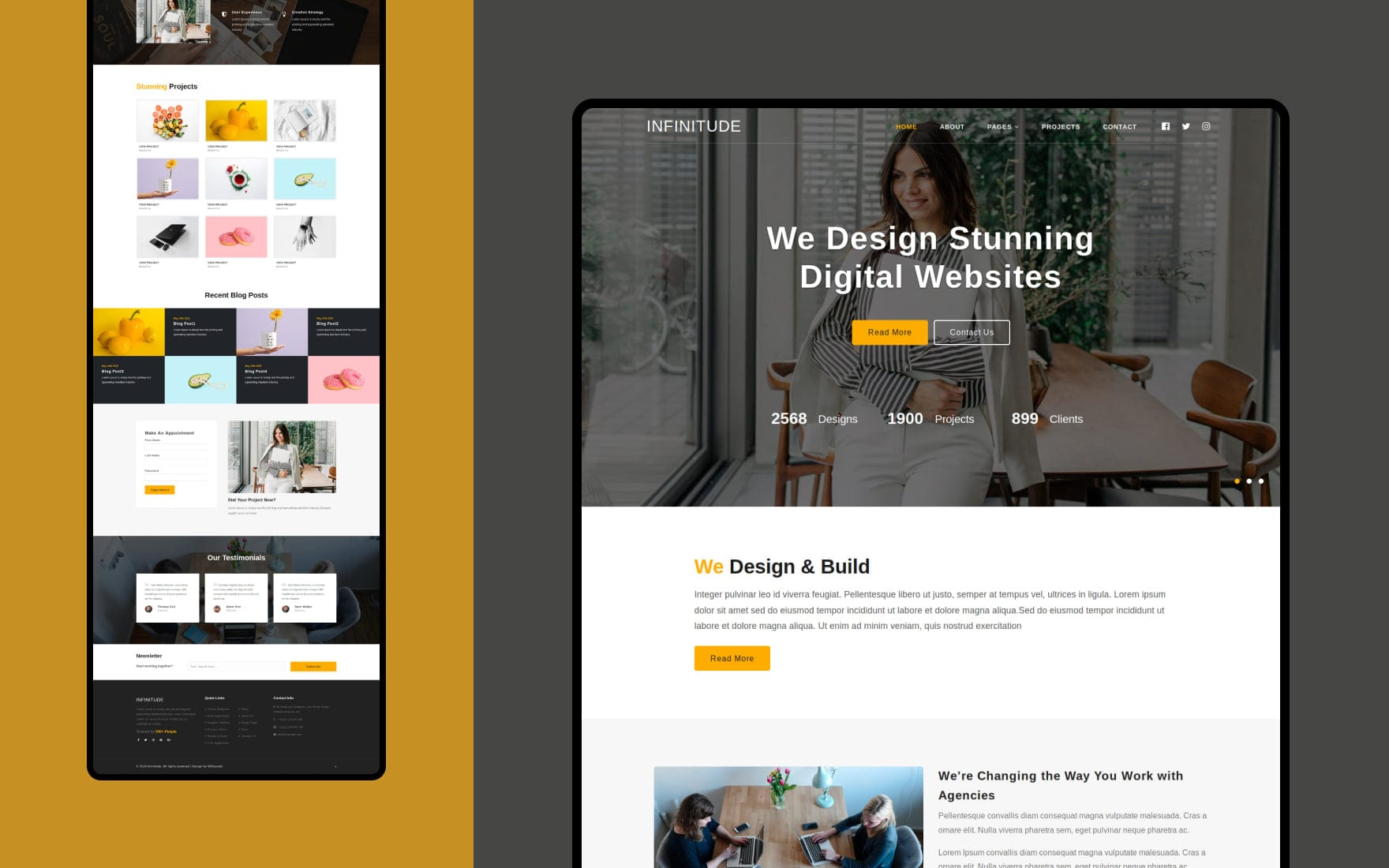 Infinitude – Corporate Category Bootstrap Responsive Website Template