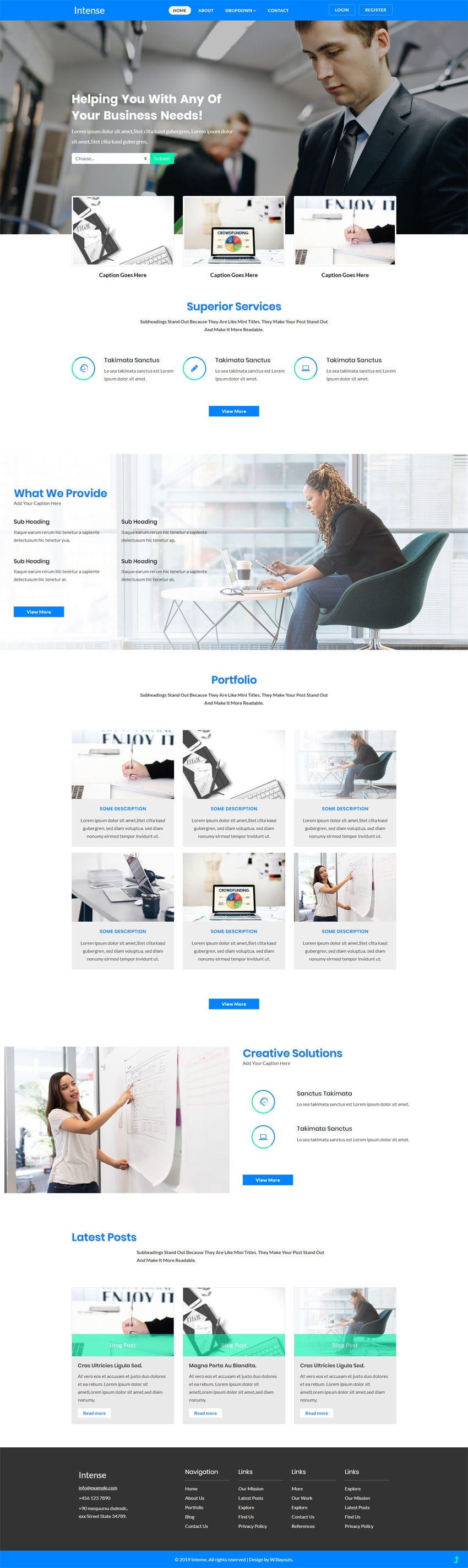 Intense - Business category Corporate website template for SMBs and Enterprises