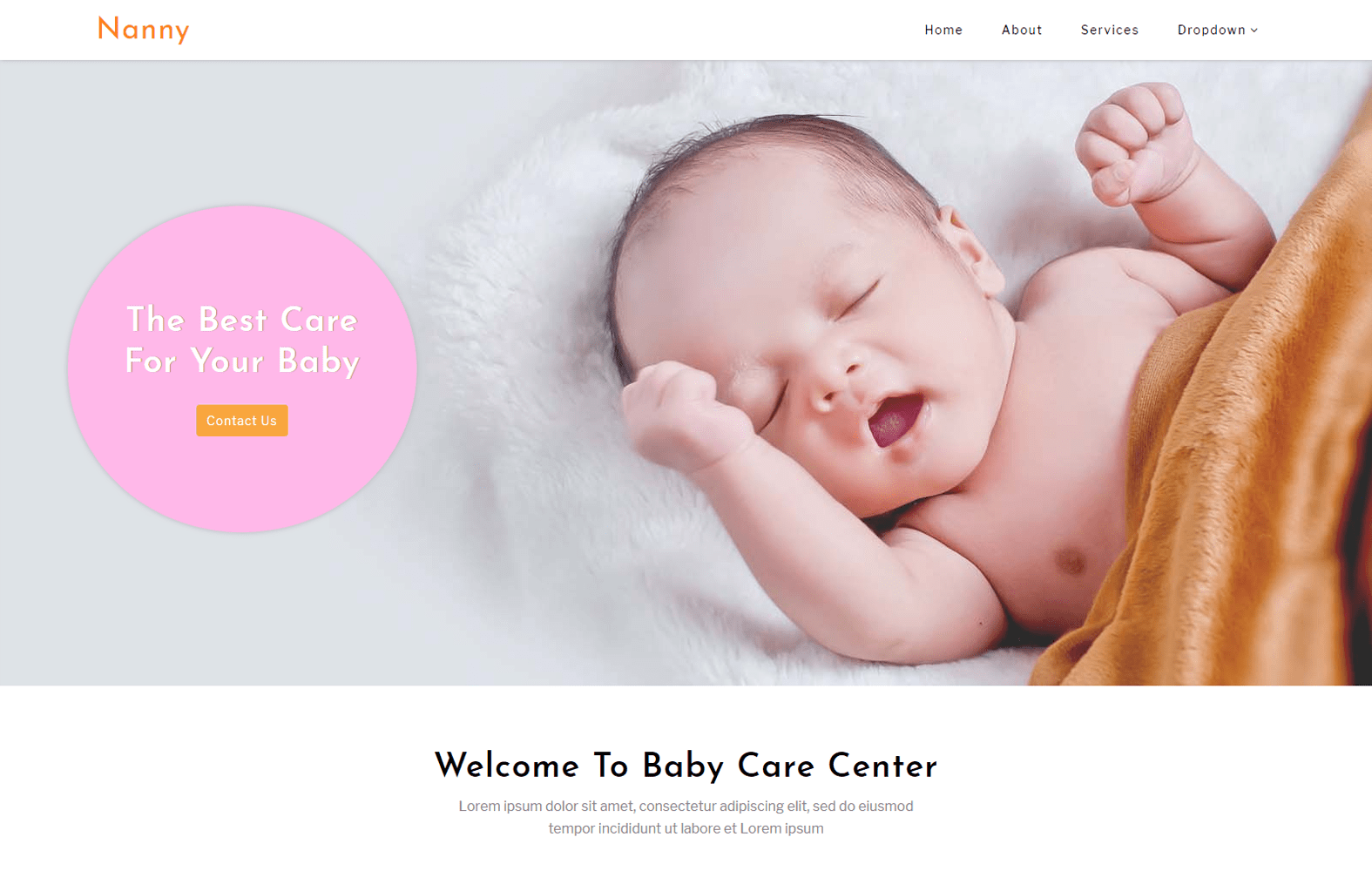 Nanny – Society and People Category Bootstrap Responsive Website Template Mobile website template Free