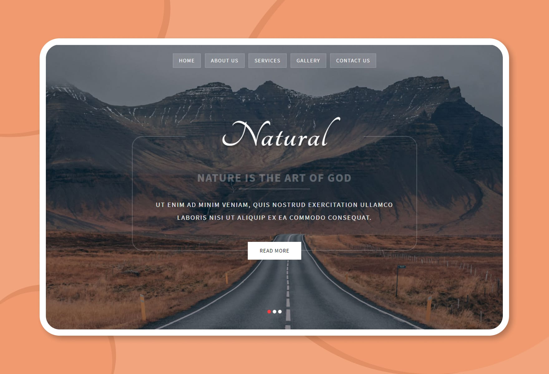 Natural a Multipurpose Flat Bootstrap Responsive Web Template