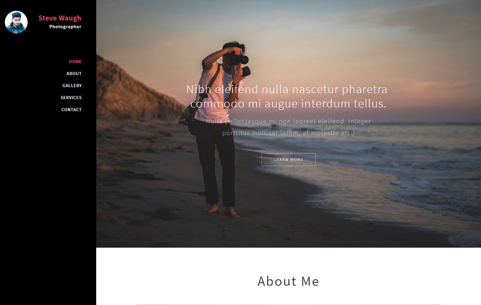 Polaroid a Photography Category Flat Bootstrap Responsive Web Template Mobile website template Free