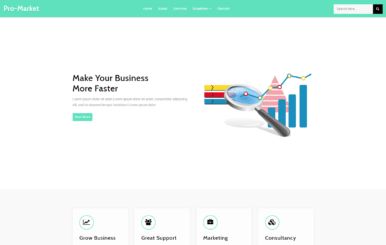 Pro Market – Corporate Category Bootstrap Responsive Web Template