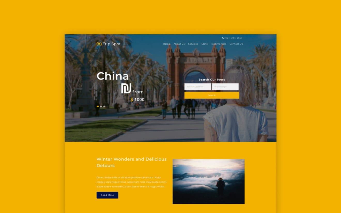 trip-spot-Boostrap-website-templates