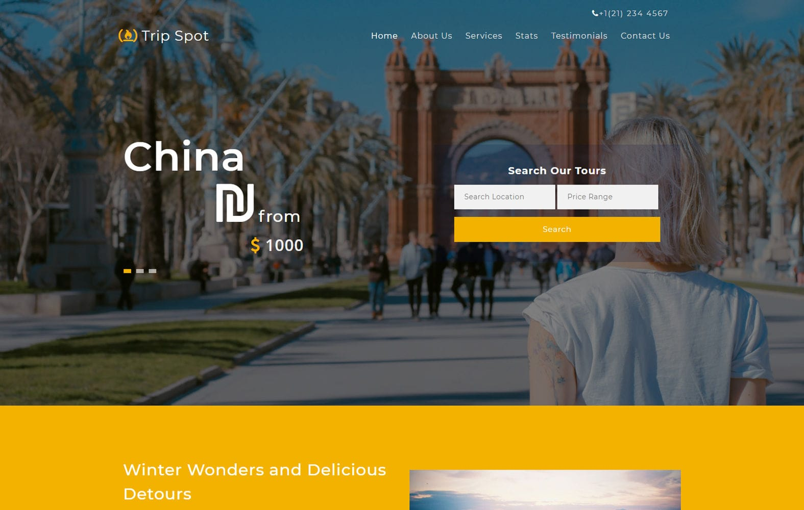 Trip Spot a Travel Category Bootstrap Responsive Web Template Mobile website template Free