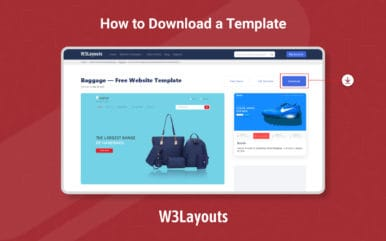 How To Download A Template from W3Layouts