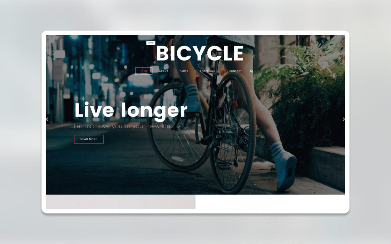 city bicycle ecommerce website template