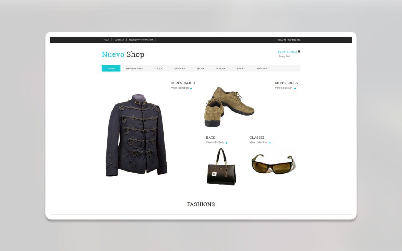 Nuevo ecommerce website template