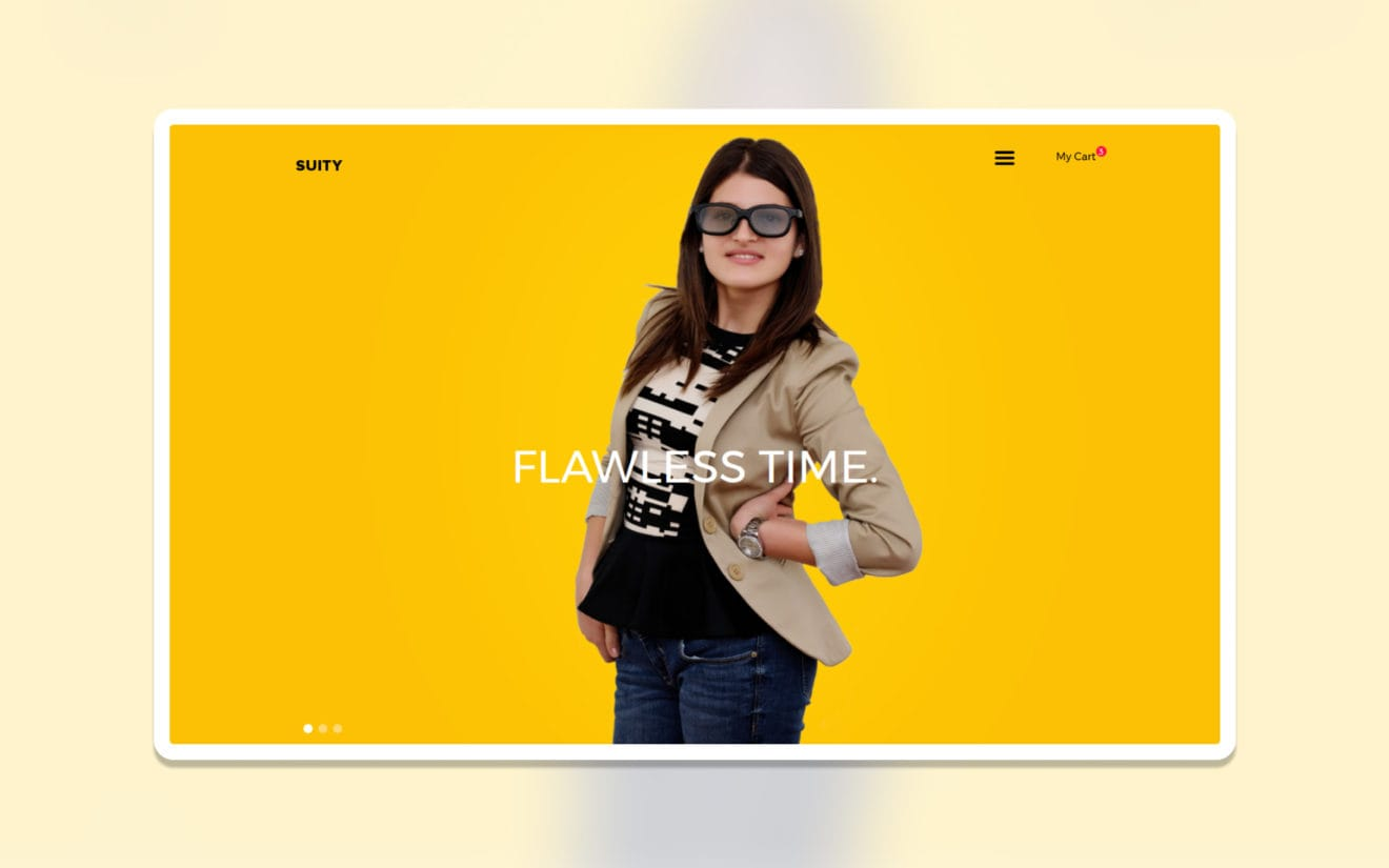 Suity ecommerce website template