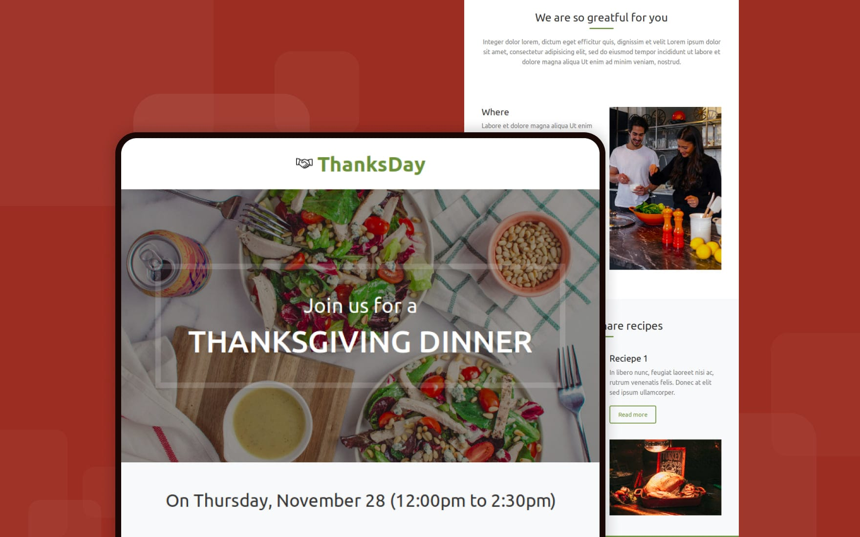 Thanksgiving day – Responsive Email Template