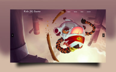 Kids Video Game Website Template