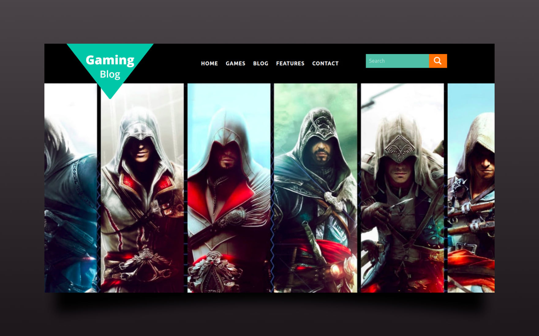 Gaming Blog Website Template